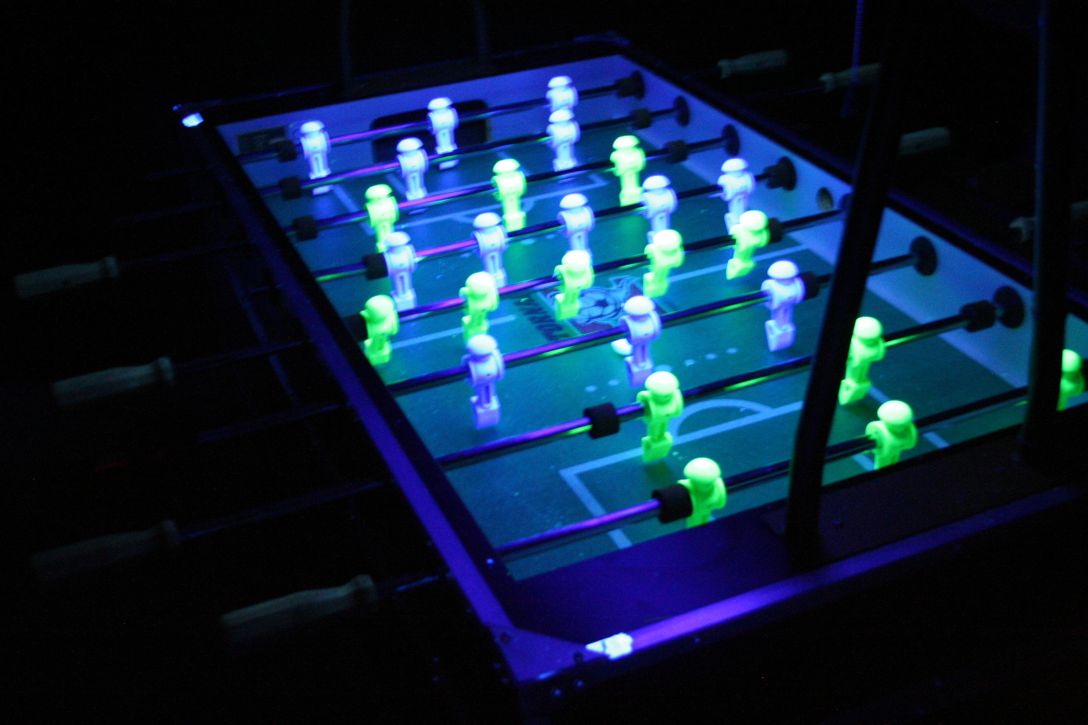 Foosball amusement masters for Table design led