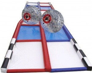 2 Zorbballs with Track